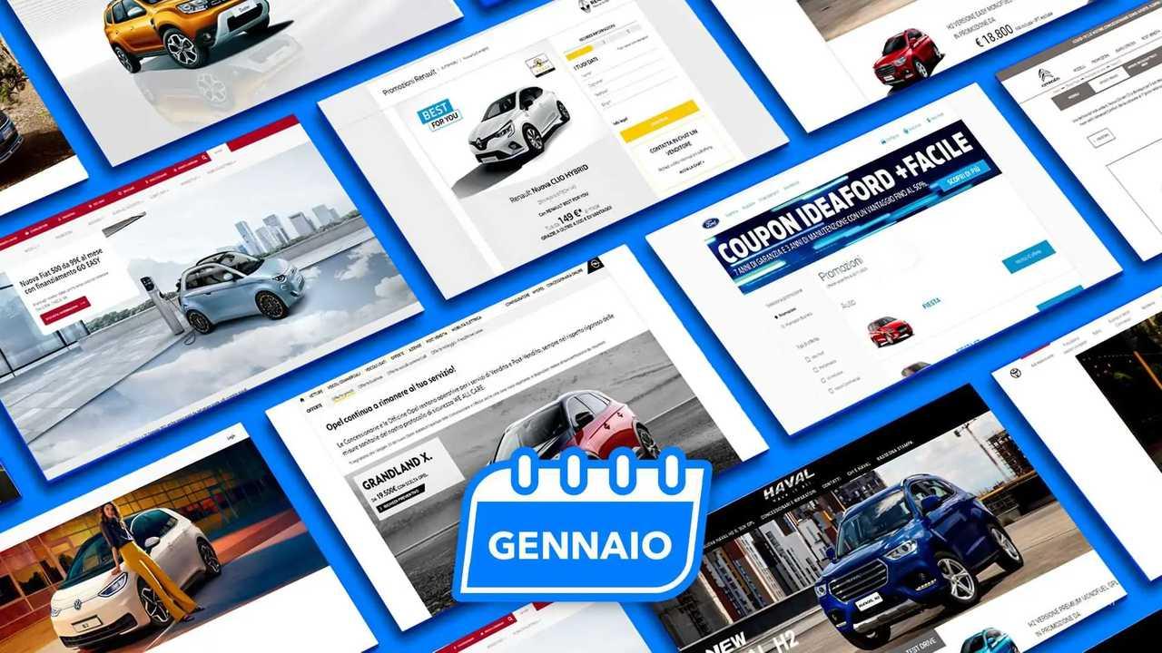 Promozioni auto, tutte le offerte di gennaio 2021