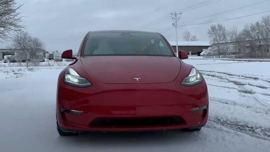Tesla Model Y Put To The Test After First Big Snow