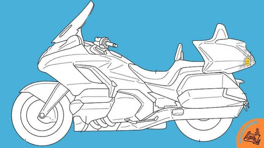 Honda Gold Wing, brevettato il radar posteriore nascosto nel bauletto