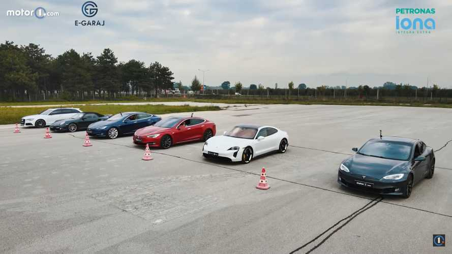 America duels Germany in our EV vs ICE drag race of Teslas and VAGs