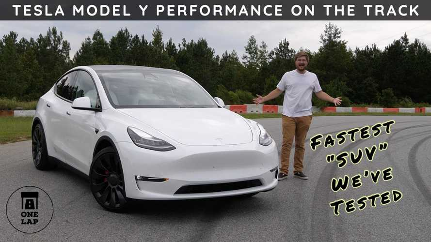 Tesla Model Y Performance Plows Through Its Paces In One Lap