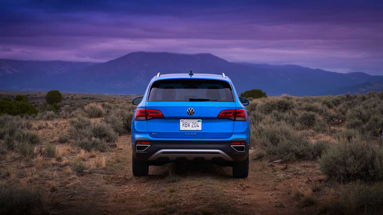 2022 tail of the Volkswagen Taos
