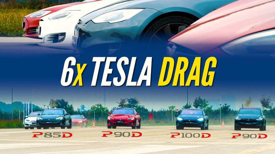 Various Tesla Model S Variants Drag Raced Against Each Other And A Model X
