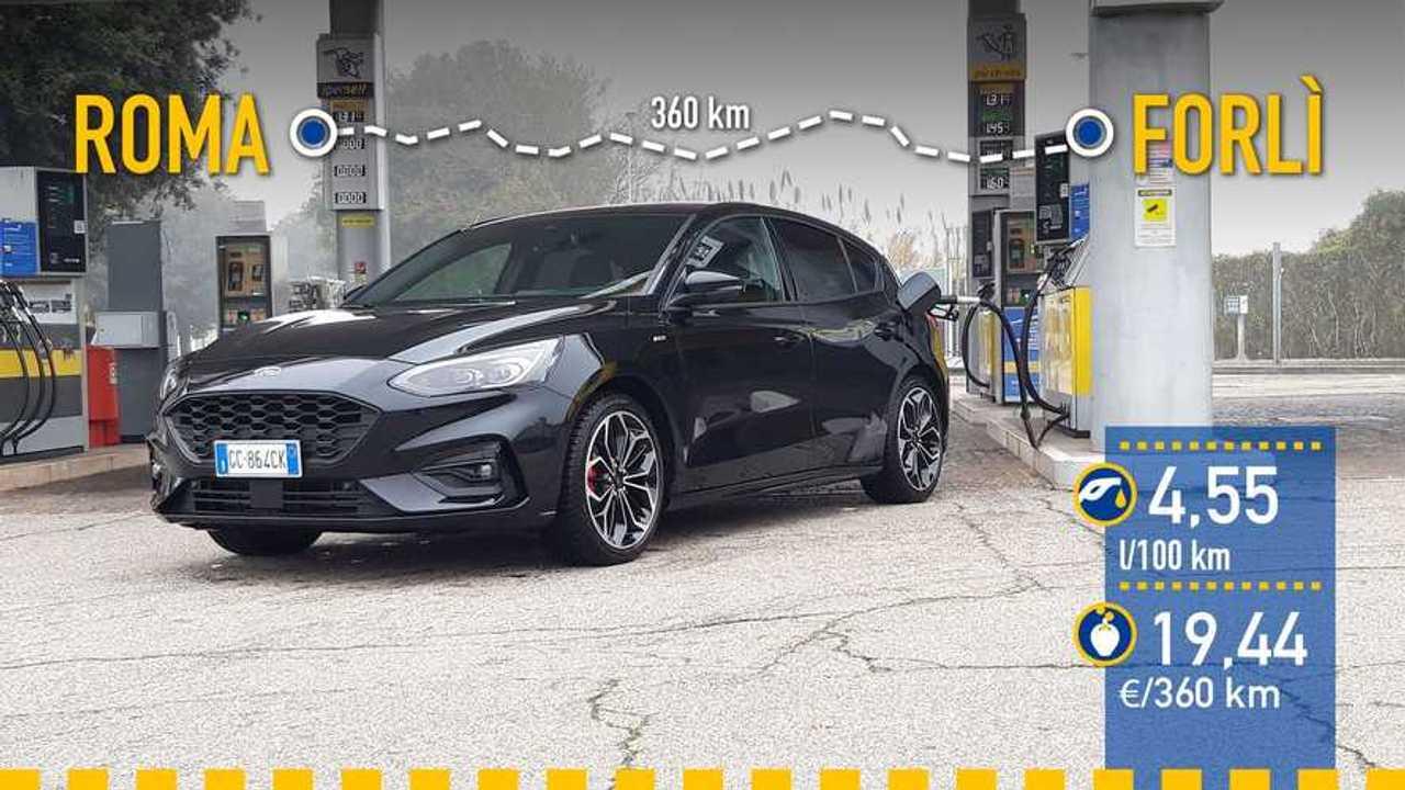 Ford Focus MHEV 2020, prueba de consumo