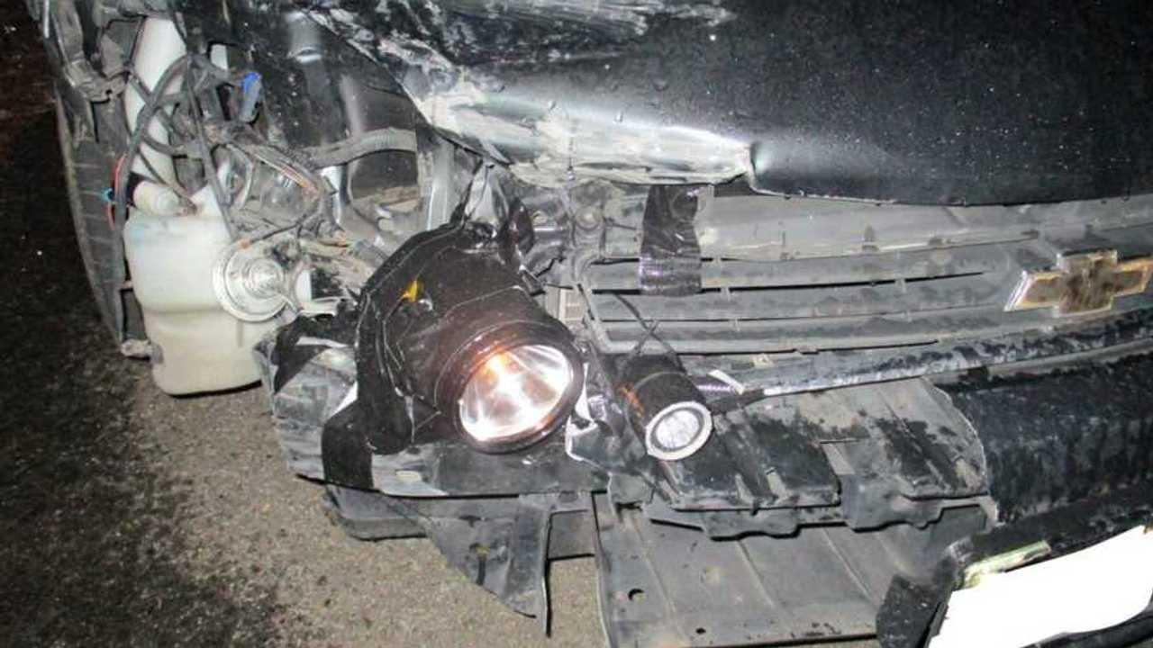 Chevy Impala With Flashlight Headlights