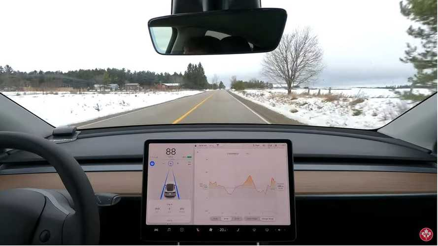 Tesla Model Y Efficiency With A Cold Battery (And A Warm Battery)