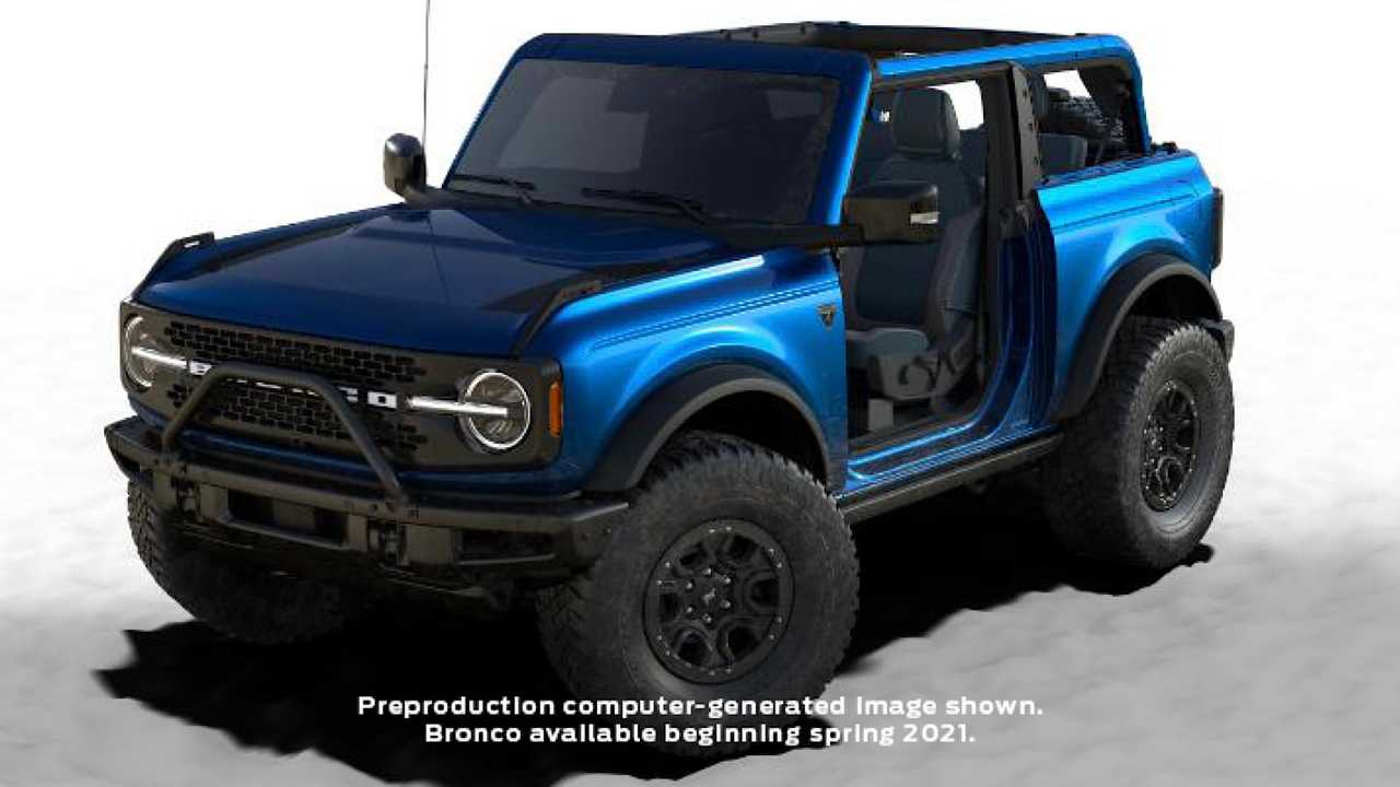 2021 Ford Bronco First Edition Lighting Blue