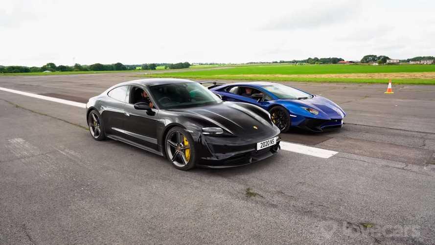 Porsche Taycan Turbo S против Lamborghini Aventador SVJ: кто кого?