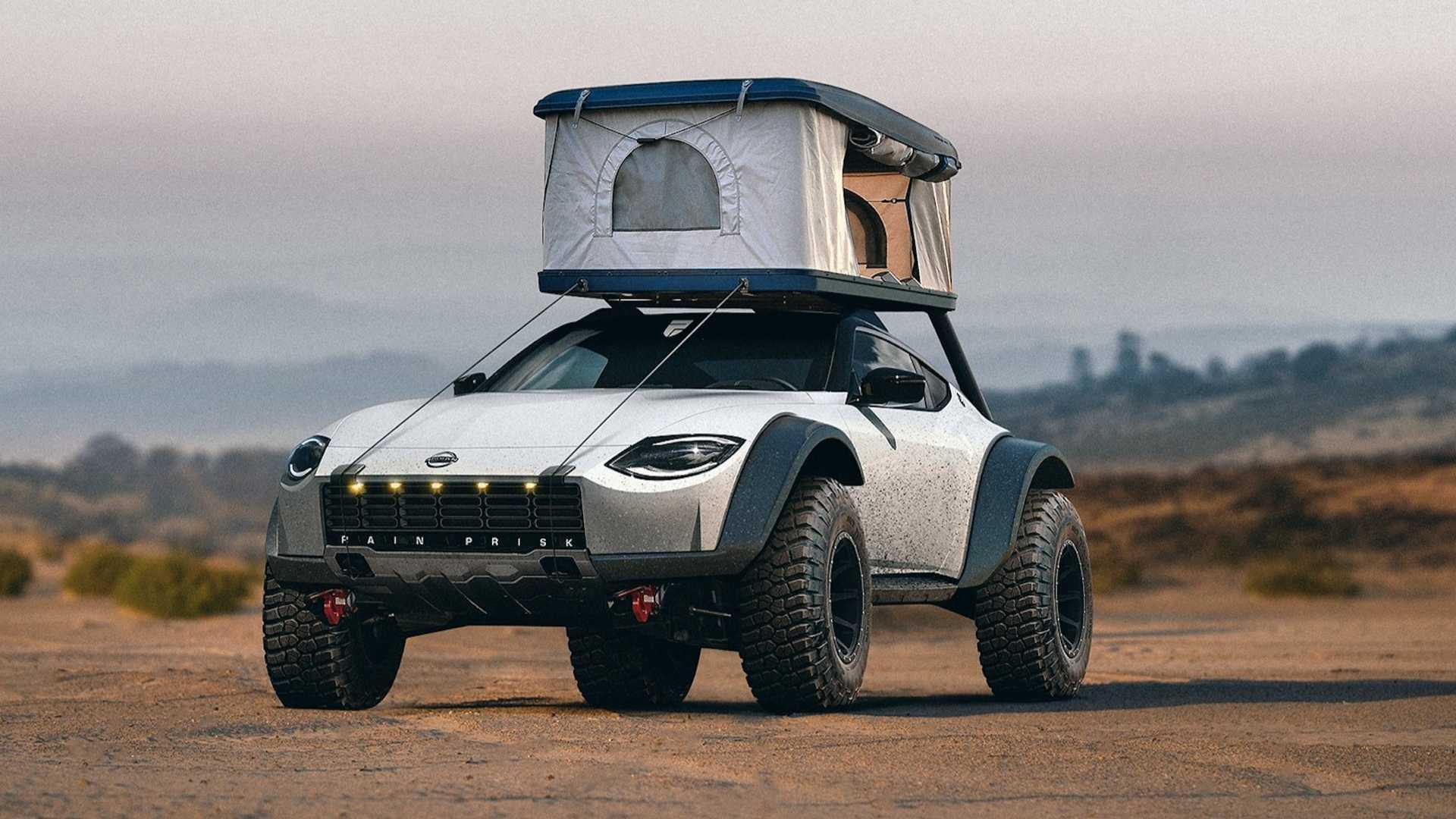 Fan Rendering Imagines A Dirty Nissan Z Proto For Safari Exploration