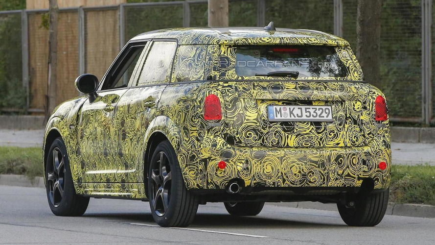 Second generation MINI Countryman spied up close prior to late 2016 reveal