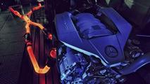 Mercedes-Benz AMG 6.3-litre V8 engine bench testing