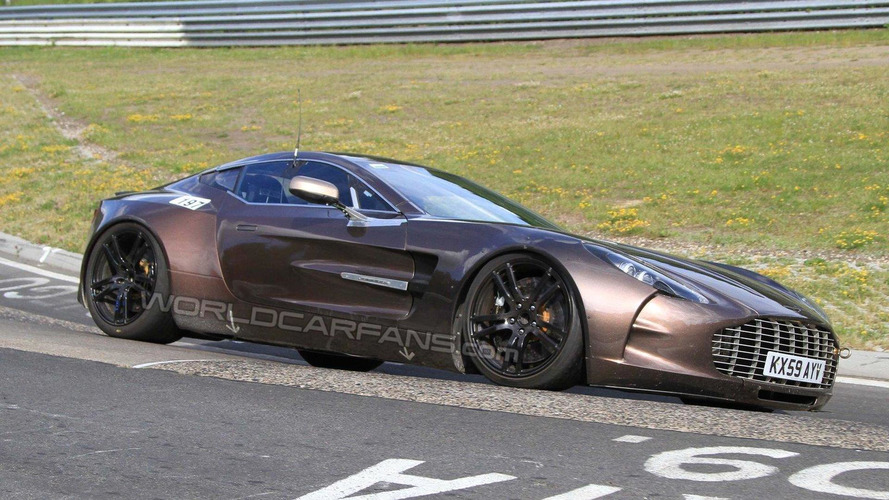 Aston Martin One-77 photographed on Nurburgring for first time