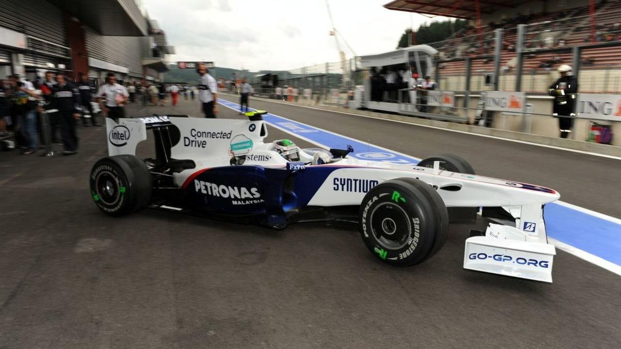 Nick Heidfeld (GER) in the BMW Sauber F1.09, Belgium Grand Prix Spa-Francorchamps, Belgium 28.08.2009