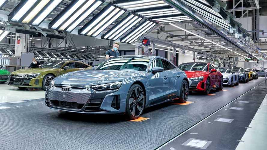 Производство Audi e-tron GT