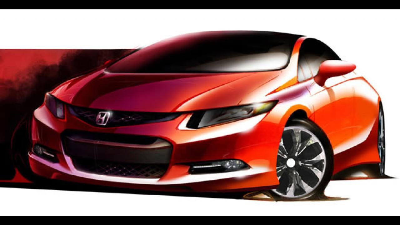 Confirmado! Honda Civic Concept estará no Salão de Detroit - Versão antecipa modelo 2012