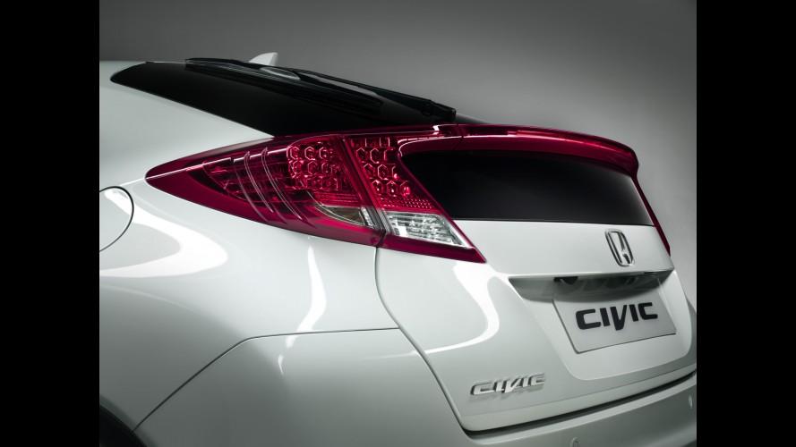 Honda divulga primeira imagem oficial da nova geração do Civic Hatch