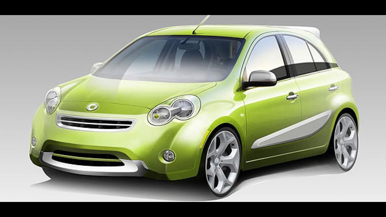 Smart anuncia hatch quatro portas criado em parceria com a Nissan