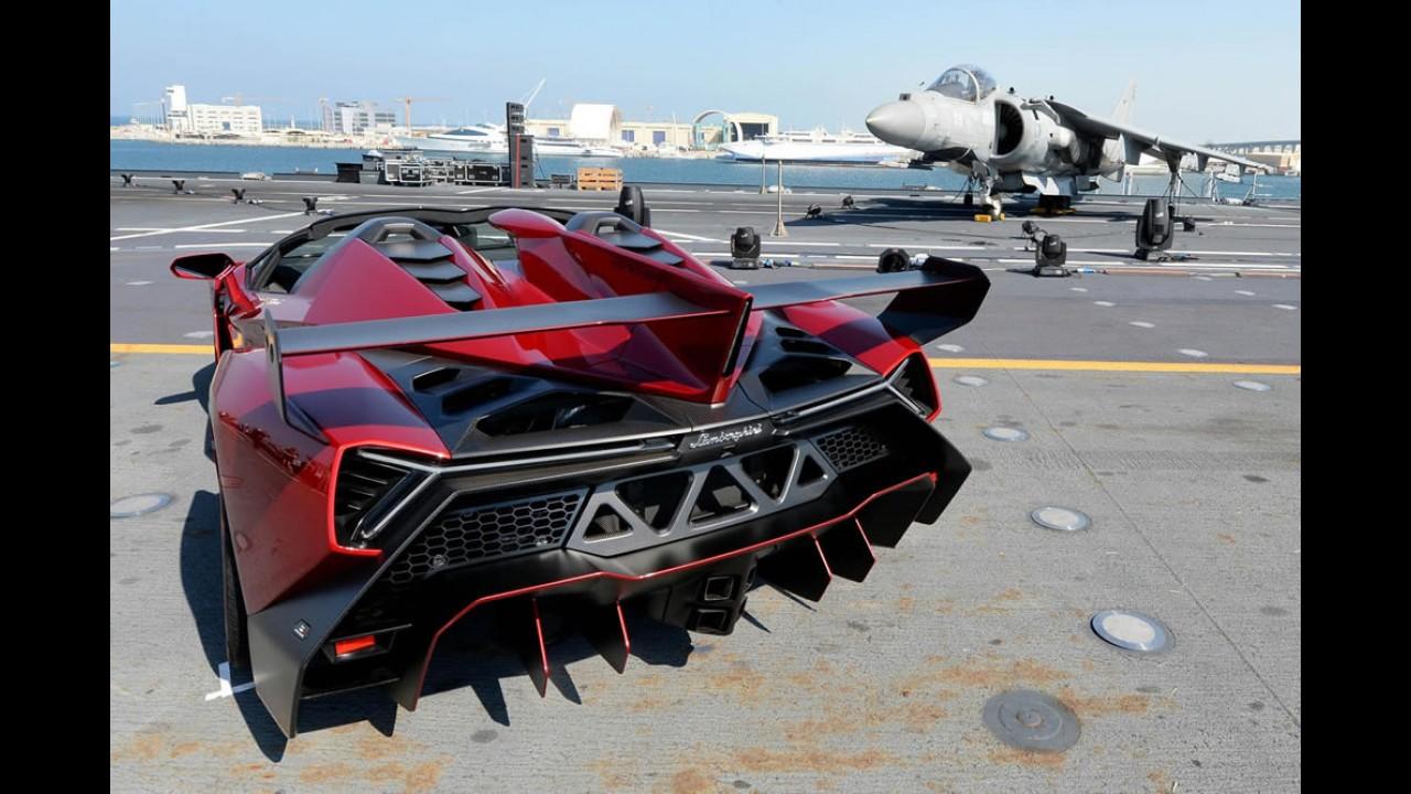 Preço da exclusividade: Lamborghini Veneno Roadster custa R$ 10,5 milhões