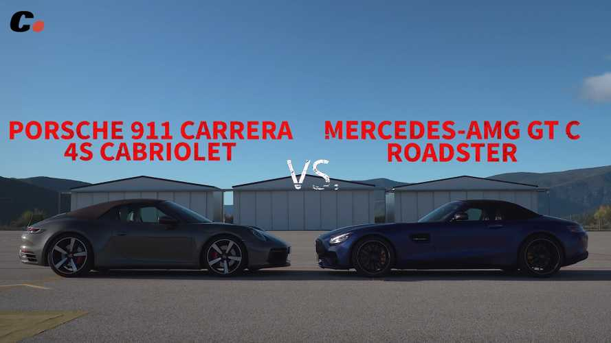 Mercedes-AMG GT C meets 911 4S in convertible race