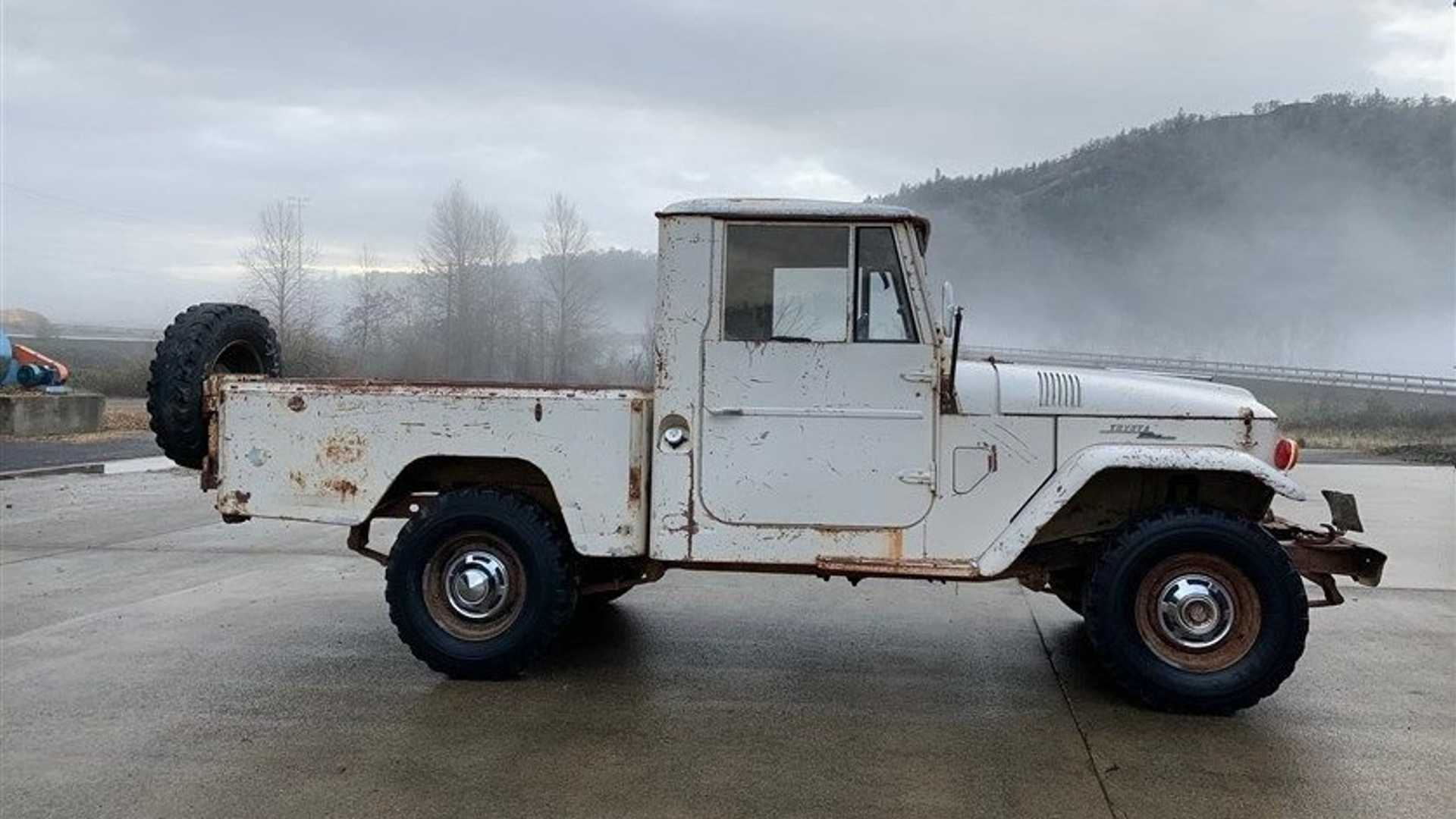 "[""Restore Or Drive This 1963 Toyota FJ45 Split-Window Pickup""]"