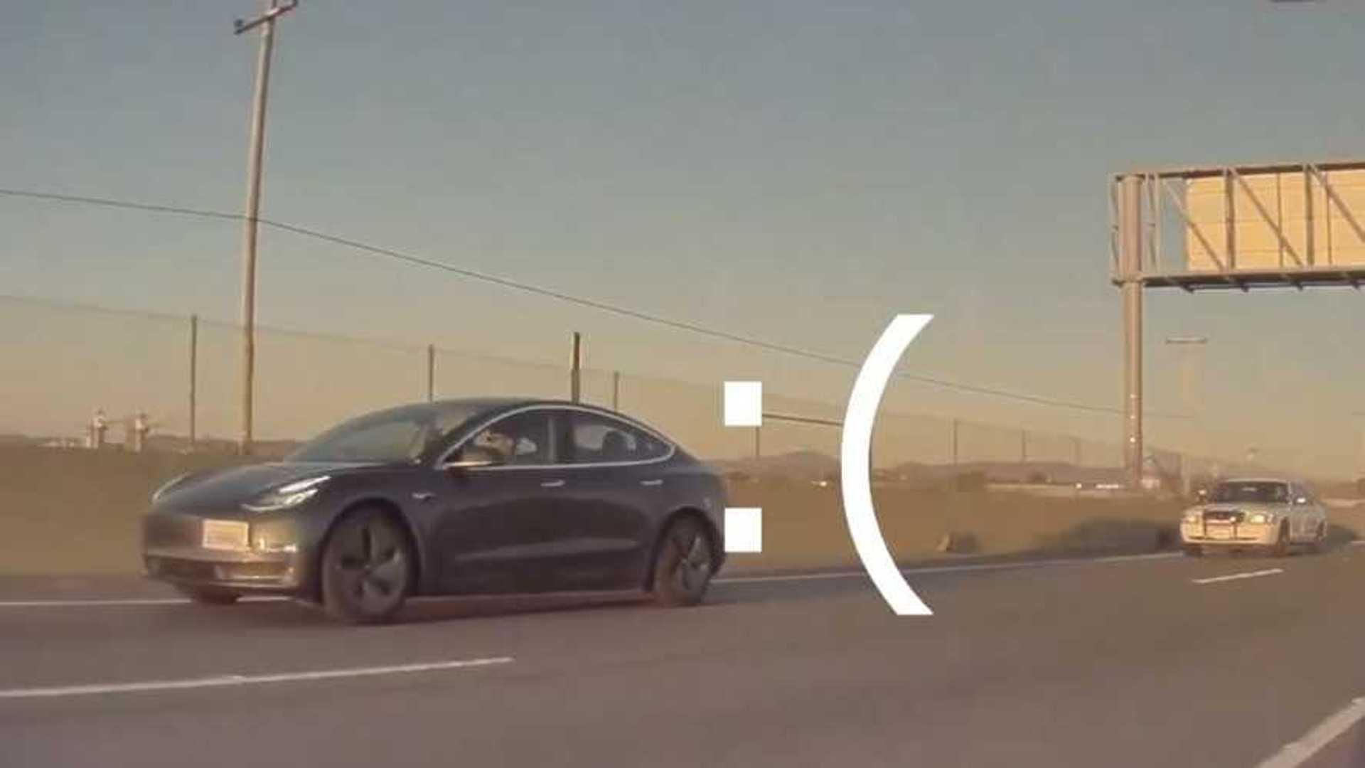 Ironic? TeslaCam Captures Speeding Tesla Model 3 With Cop In Pursuit