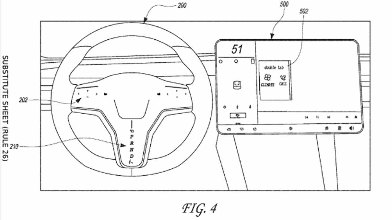Tesla Touch Wheel Patent