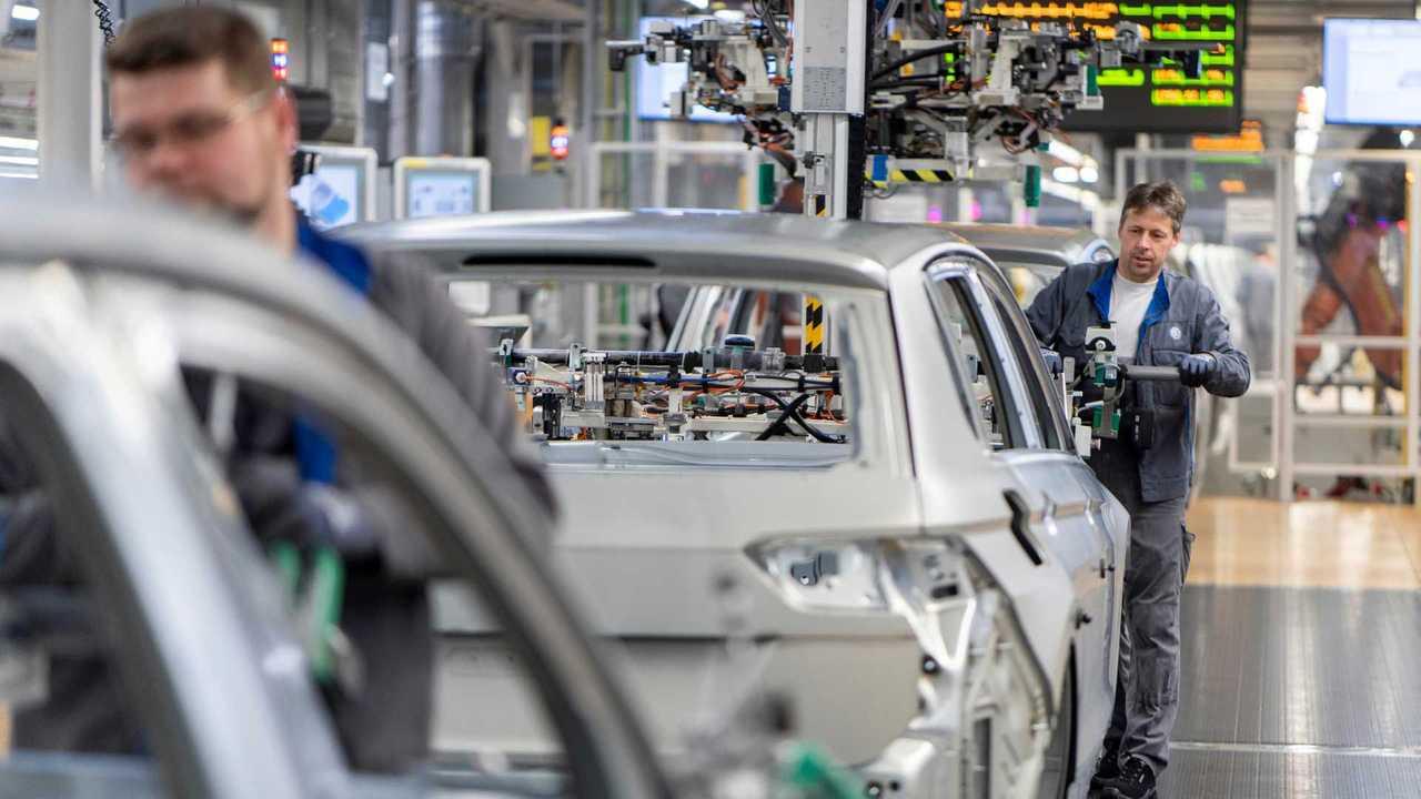 VW-Tiguan-Produktion in Wolfsburg (Karosserie, 2020)