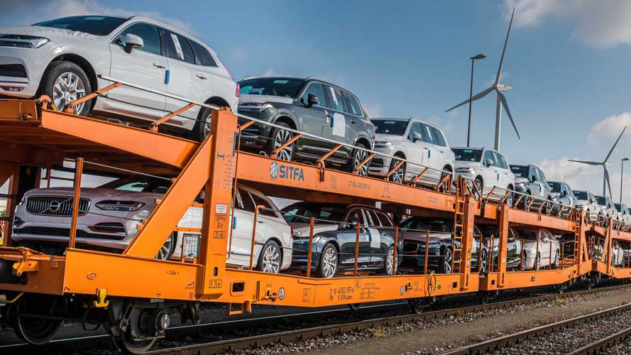 Volvo goes green by swapping trucks for trains