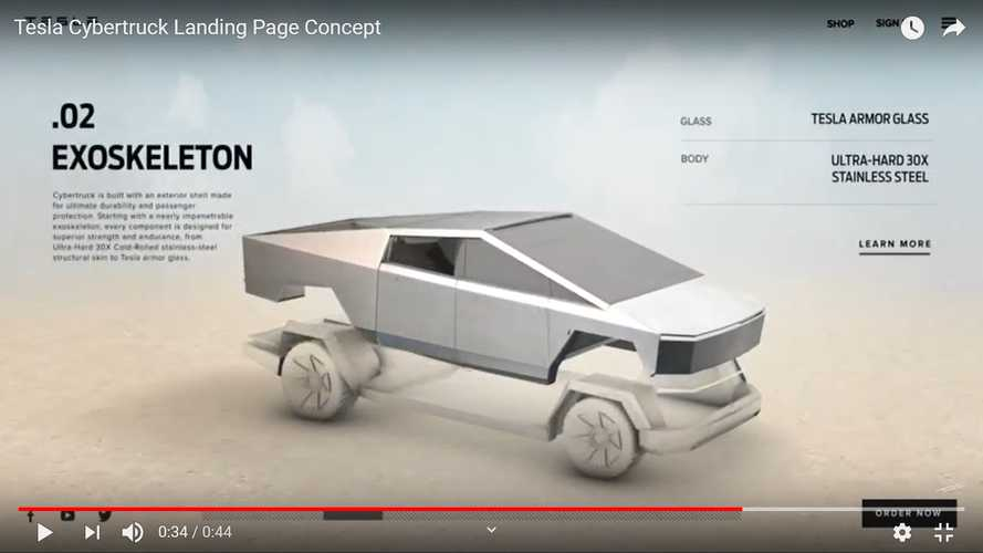 Check Out This Upgraded Tesla Cybertruck Home Page: It's Full Of Flair