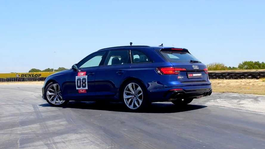 Audi RS4 Avant, BMW X3 M Competition Drag Race