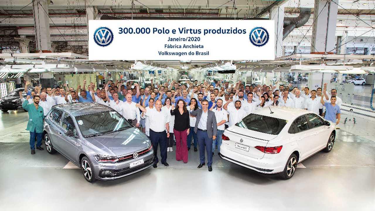 Volkswagen Polo e Virtus - 300 mil unidades produzidas