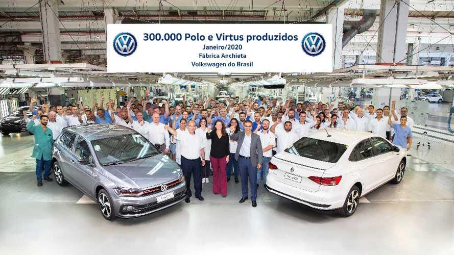 Virtus ajuda Polo a superar Golf na produção da VW global; Tiguan lidera