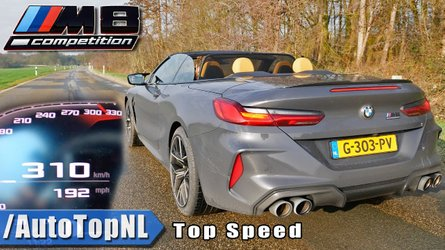 BMW M8 Convertible Competition Hits 192 MPH On The Autobahn