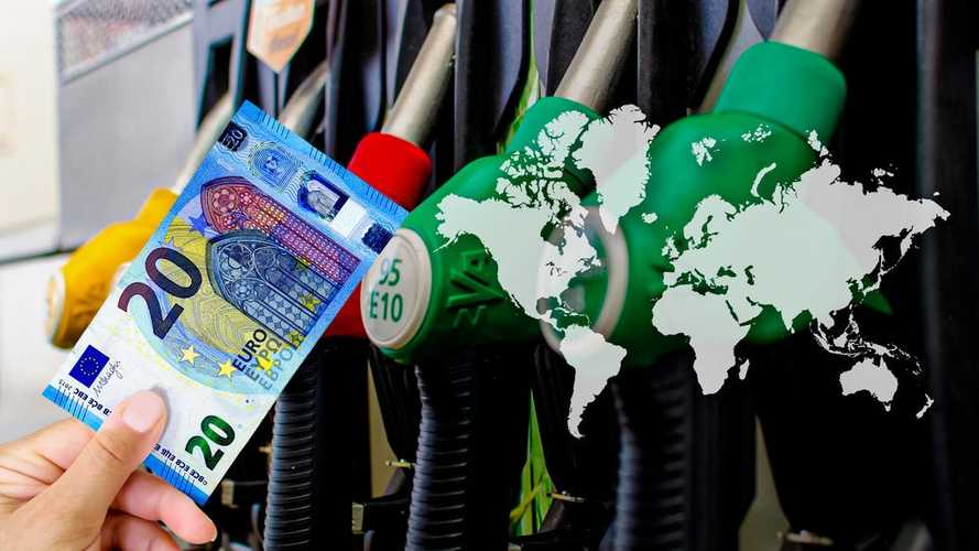20 €'ya hangi ülkede kaç litre akaryakıt alınıyor?