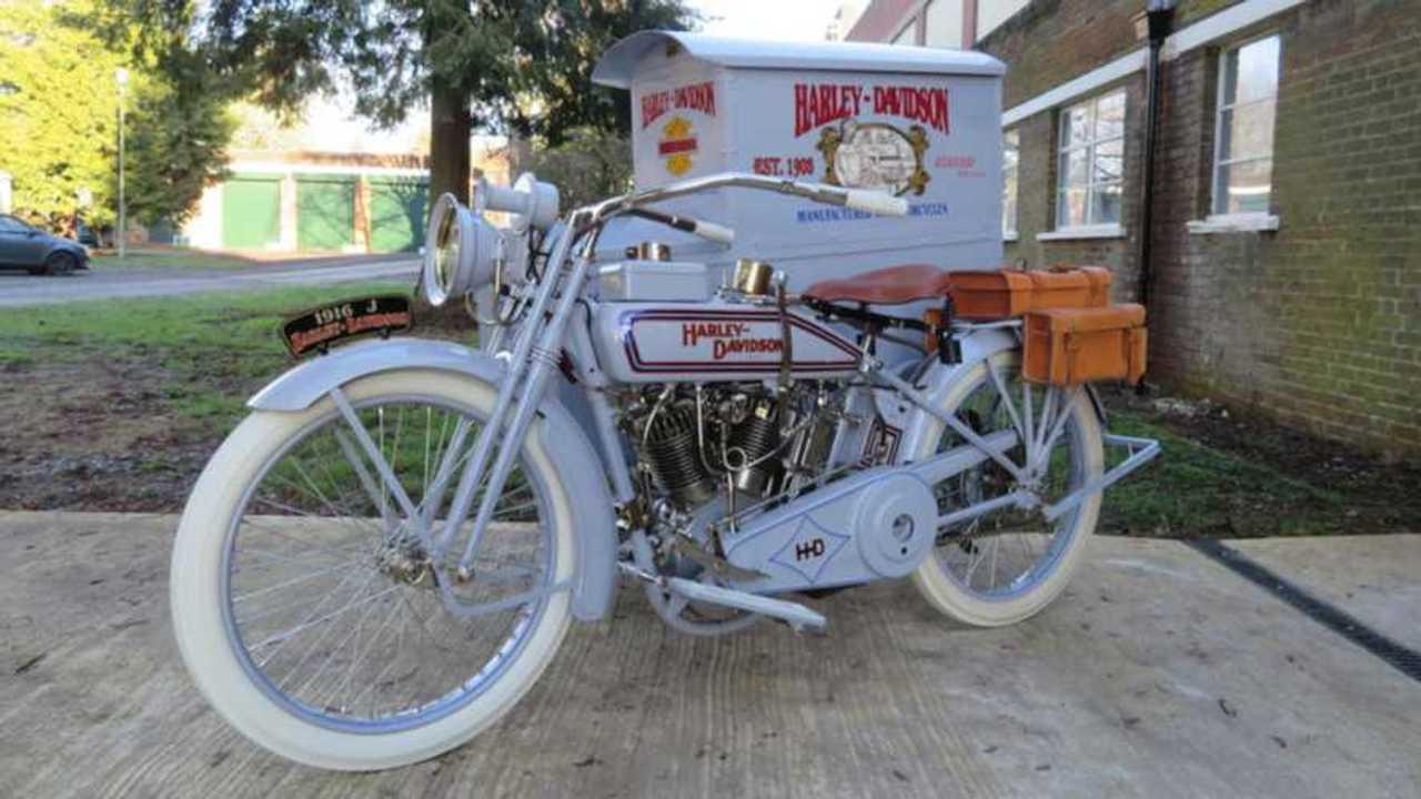 1916 Harley-Davidson Model J Package Truck