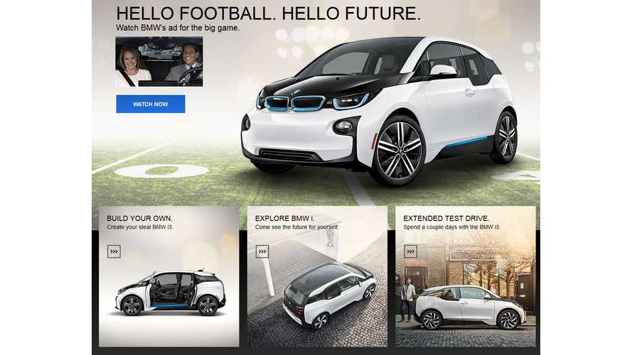 BMW i3 Front & Center On BMWUSA.com - Chevrolet Volt & Bolt Headline Chevrolet.com