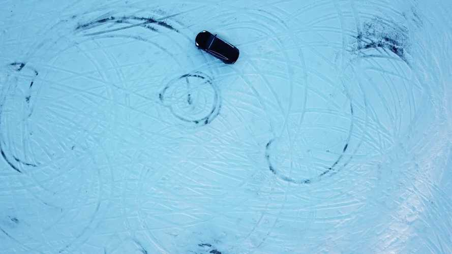 Watch Tesla Model 3 On Track Mode Slide On Snow: Video