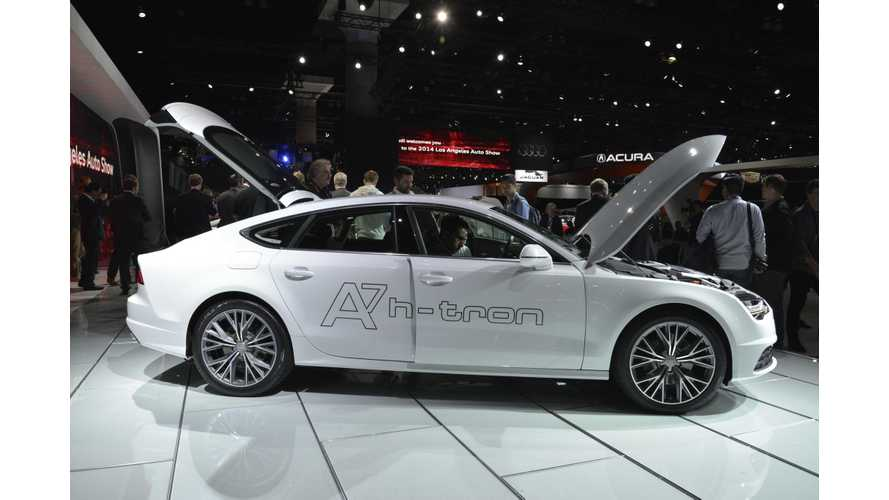 Audi Unveils Plug-In A7 Sportback h-tron Quattro At 2014 LA Auto Show