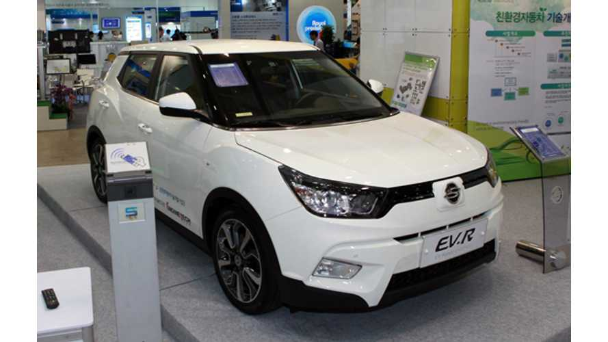 SsangYong Tivoli EVR At 2015 ENVEX - Photos