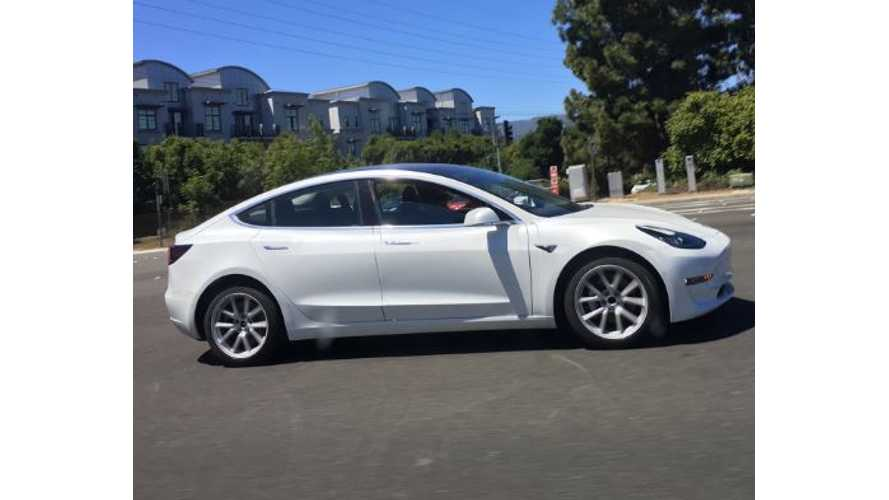 New White Tesla Model 3 Photos Give Better Look At Design Style