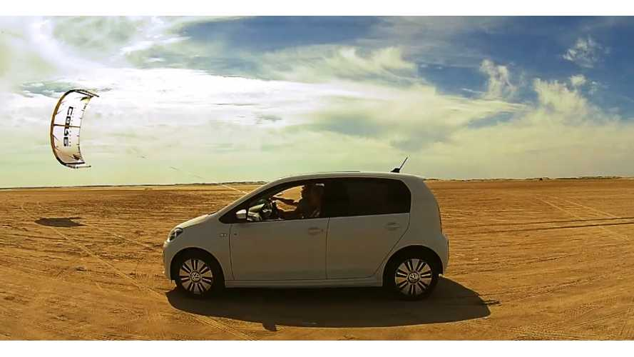 Volkswagen e-Up! Powered Solely By Wind?! - Video