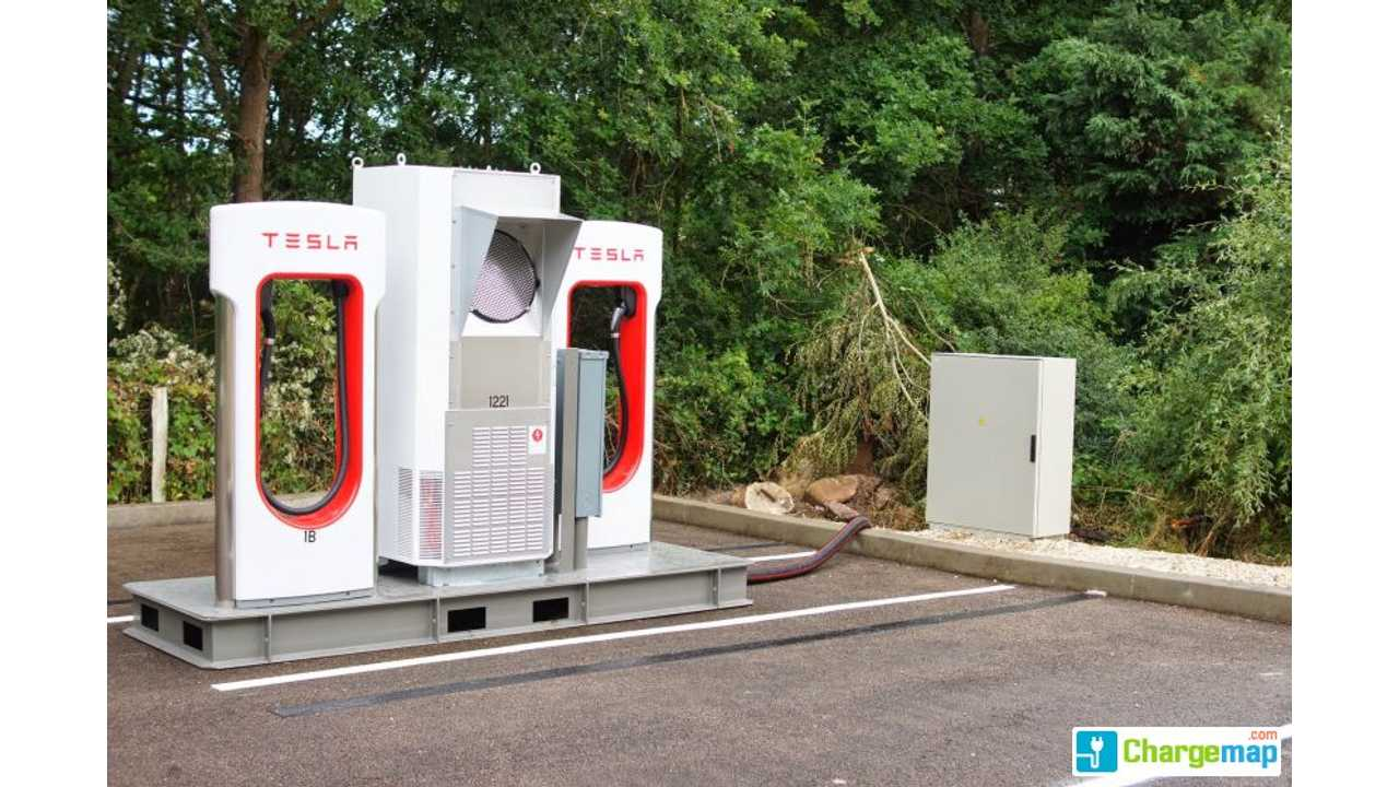 Tesla Opens First Supercharger in France