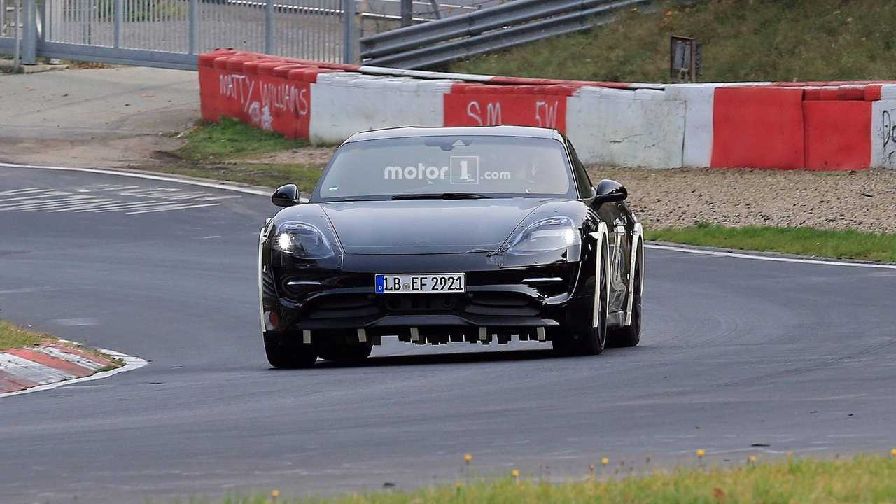 Porsche Mission E Prototype mule out testing recently