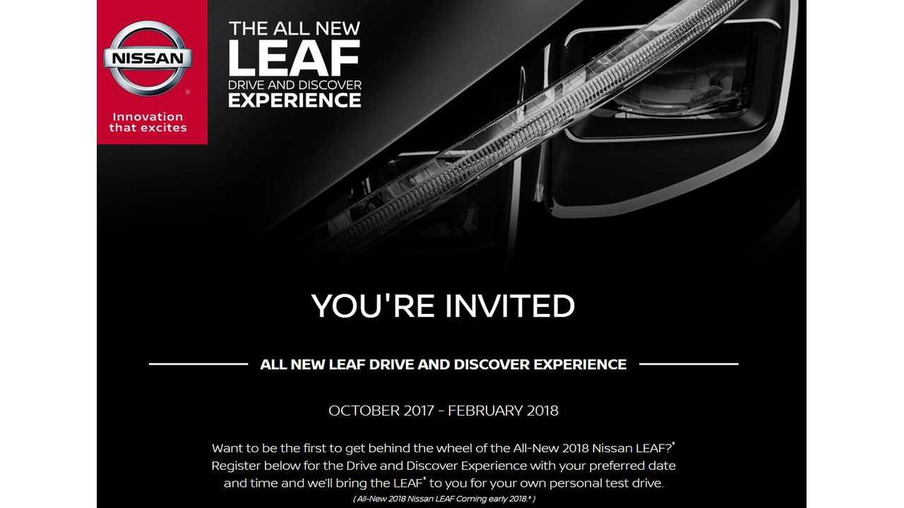 Nissan Will Bring The New 2018 LEAF To You For A Test Drive