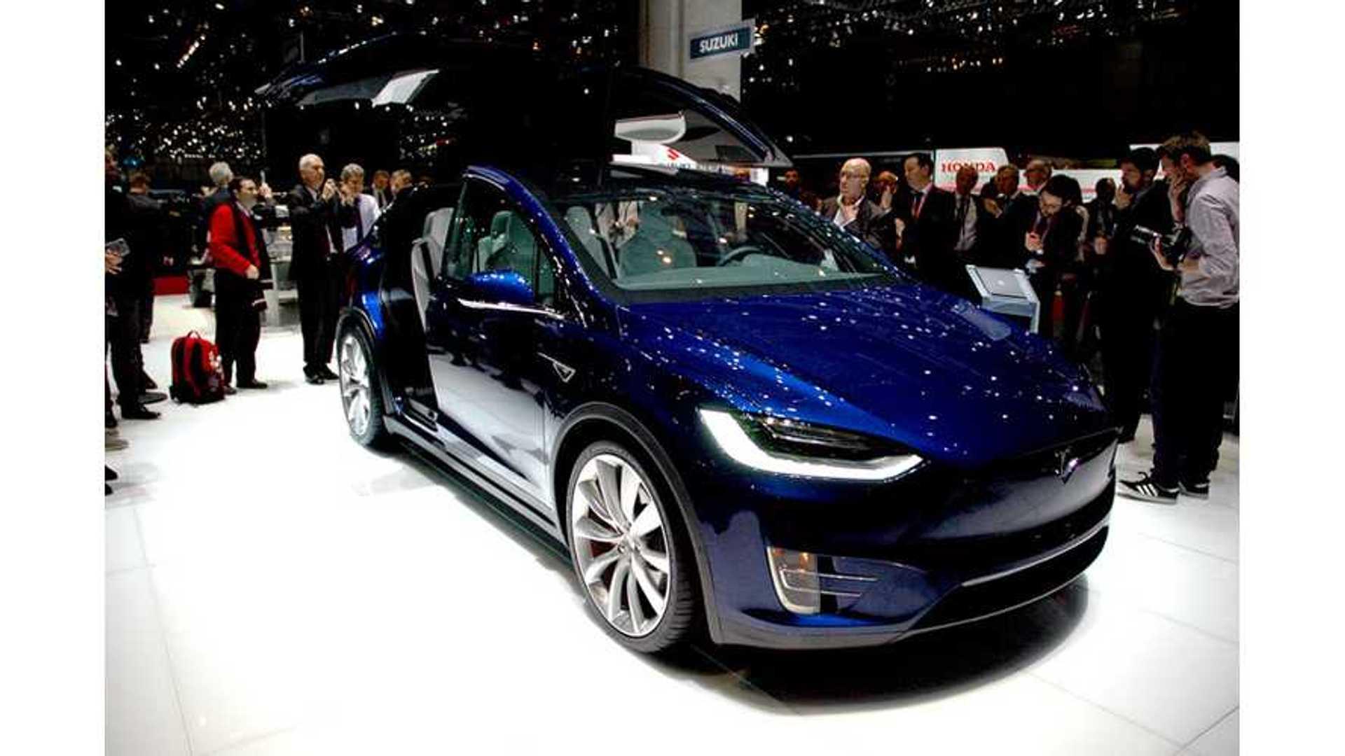 Blue Tesla Model X Exterior And Interior Walkaround Video