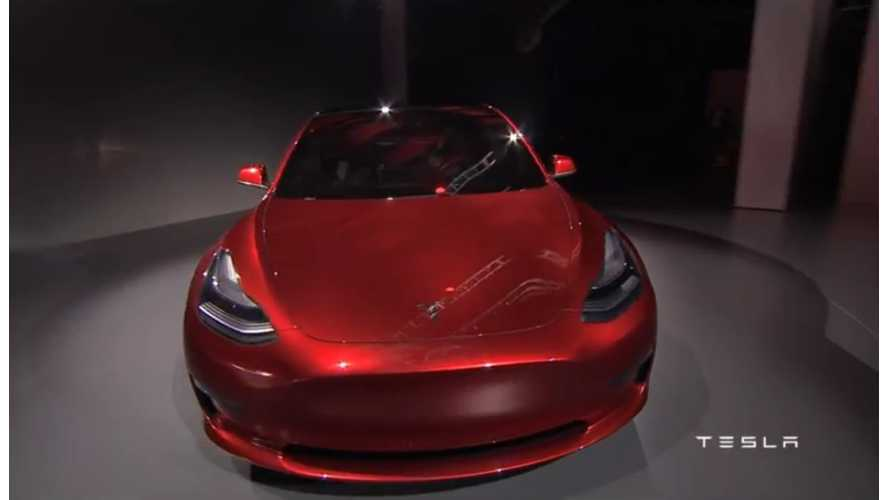 Tesla Model 3 Arrives: 215 Miles Of Range, $35,000 - Full Details
