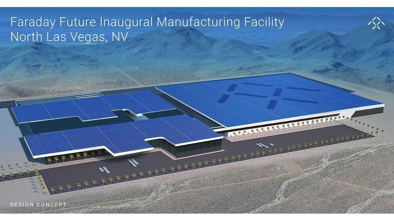 Faraday Future factory rendering in Nevada