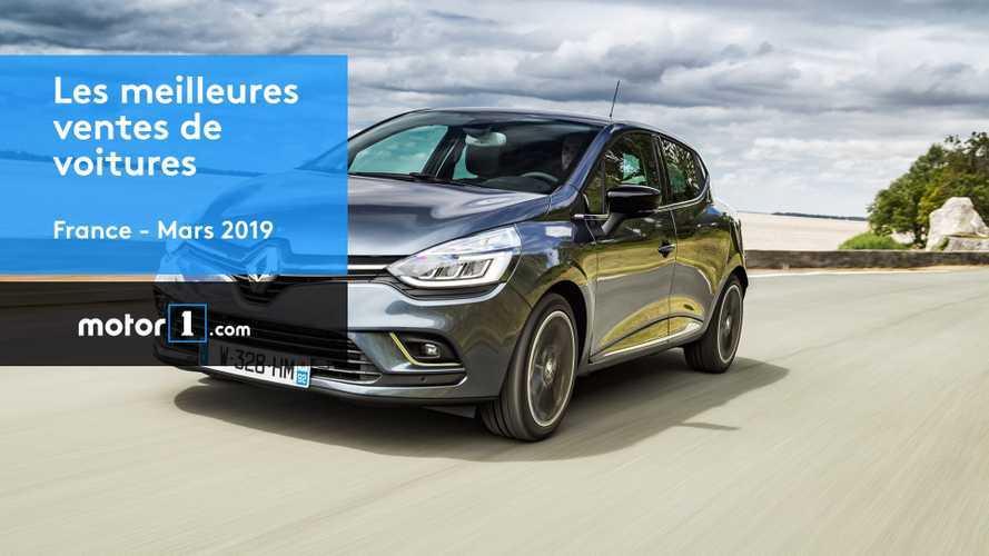 VIDÉO - Les 10 voitures les plus vendues en mars 2019 en France