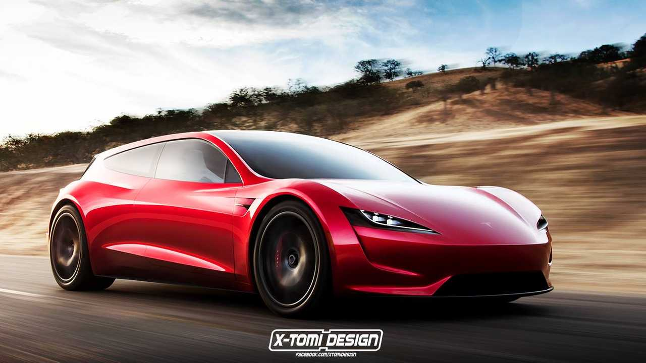New Tesla Roadster Rendered In Shooting Brake Form