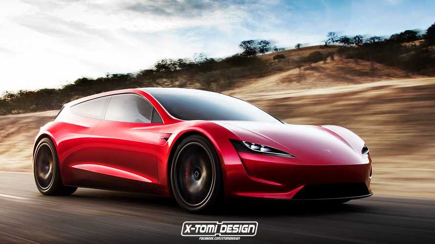 New Tesla Roadster Rendered In Shooting Brake Form